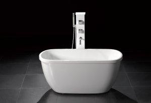 M-1068 Small Modern Free Standing Bathtub & Faucet