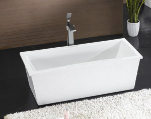 M-2029 Modern Free Standing Bathtub & Faucet bathroom