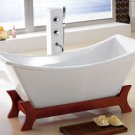 M-996A ASIAN INSPIRED FREE STANDING SMALL BATHTUB & FAUCET bathtubs large bath tubs