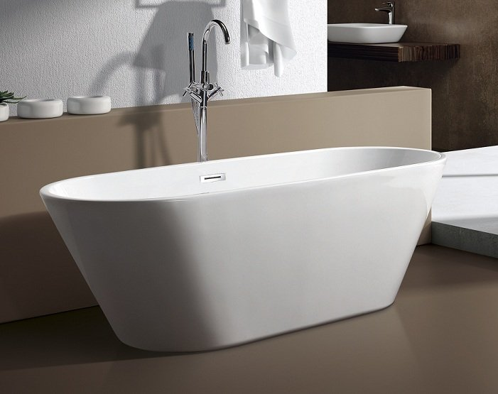 M 771 59 modern free standing bathtub faucet clawfoot for Free standing soaking tub