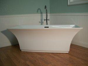 M-768 Modern Free Standing Bathtub & Faucet with Drain Set