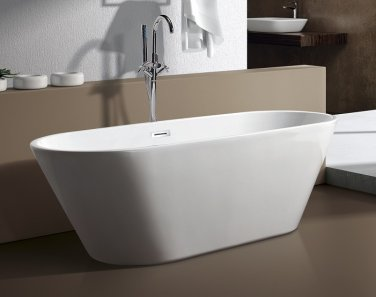 """M-771L 67"""" Free Standing Modern Bathtub and Faucet"""