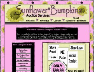 Ebay WP Store Front Makeover ME Page & Auction Template OOAK