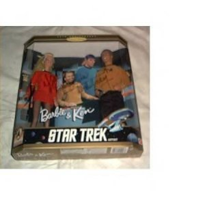 STAR TREK BARBIE and KEN GIFTSET AUTOGRAPHED