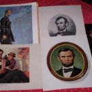 ABRAHAM LINCOLN, 5 REPRODUCTION PORTRAITS
