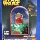 STAR WARS MUSICAL HOLIDAY WATERBALL, SNOWBALL,YODA