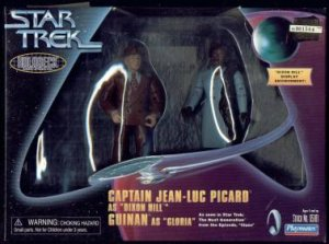 CAPTAIN JEAN LUC PICARD AND GUINAN SET