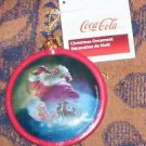 Coca-Cola ornament ,round, santa 1