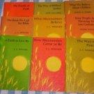 Mennonite faith series, 9 book lot, wenger, widmer, gallardo