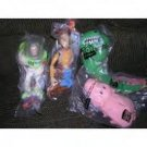 Set of 5 Disney Toy Story Puppets Buzz Lightyear, Woody, Hamm and Rex RC racer from Burger King