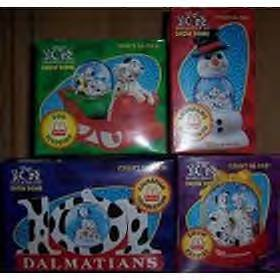 Disney MCDONALD'S 101 DALMATIONS SNOW GLOBE, DOME set of 4