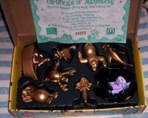 MCDONALDS DISNEY LITTLE MERMAID GOLD boxed SET  (A)
