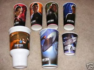 7 Burger King Star trek Promo cups NEW