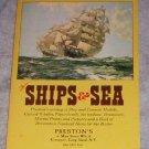 Preston's of Ships and Sea 1974 NEW (CATALOG)