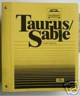 1986 TAURUS/SABLE SHOP MANUAL   HUGE 50 SECTIONS