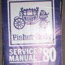 Fisher Body Service Manual - 1980, '80