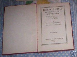 DIESEL ENGINES  L H MORRISON  1937 HC (A)