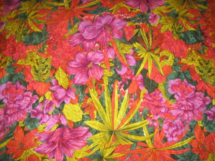 Vintage ALBERT NIPON Designer 100% Silk Tropical Flowers SCARF   Retro Fashion Accessories Clothing