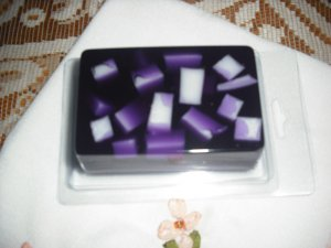 Hand Made Rectangle Shaped Chunky Soap, Lilac