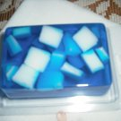 Hand Made Rectangle Shaped Chunky Soap, Blue in Color You Choose Scent