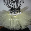 Hand Made TUTU Skirt,  Light Yellow