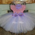 Hand Made TUTU Dress,  Light Pink & Lavender