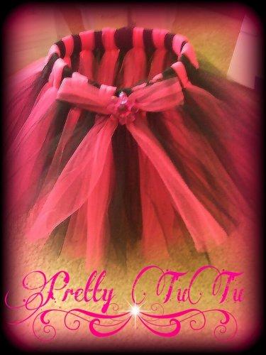 Hand Made TUTU Skirt,  Fushcia & Black