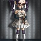 """The Affliction of Kandace"" Art Print - Wicked Goth Girl Rag Doll Teddy Bear"