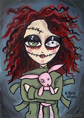 Asylum Girl - Mini Art Print