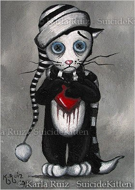 Morky the Rag Doll Cat - Mini Art Print