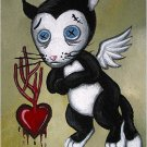 Morky Valentine Cupid in Distress - Mini Art Print