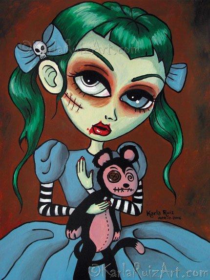 Mariana With Pet Monkey - Art Print