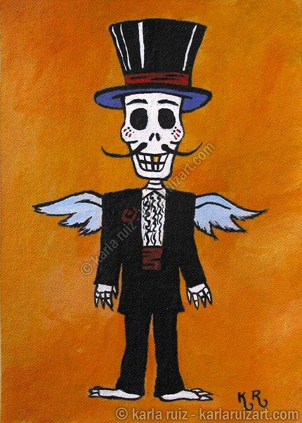 Dia De Los Muertos Groom - Art Print