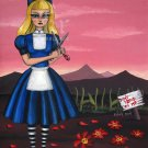 Alice in the Garden - Fantasy Gothic Art Print