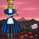 Alice in the Garden - Fantasy Gothic Art Print