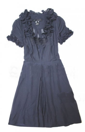 marc by marc jacobs navy lace sleeve dress 2#