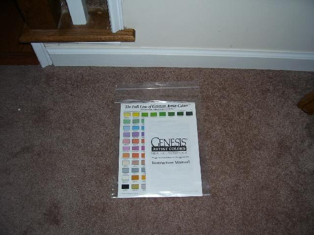 Genesis Heat Set Paints COLOR CHART & INSTRUCTION MANUAL PLUS COLOR INFO FLYER NEW!