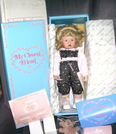 Knowles BOO BEAR AND ME Porcelain Doll 1991 by Jan Goodyear