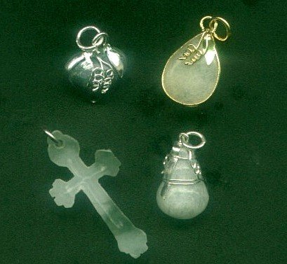 4 original Jadeite Pendants with FREE Shippings.
