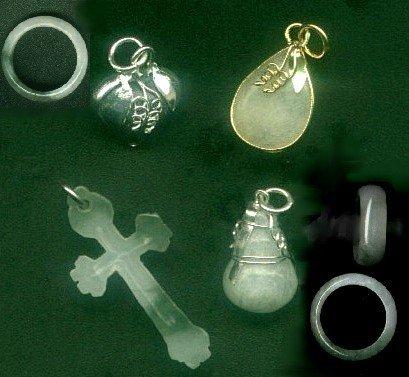 5 different pieces original burmese jadeit items. FREE SHIPPING.