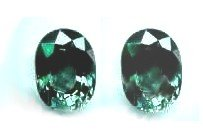 2 nice green-blue multi color sapphire, oval facet cuts with FREE,GLOBAL SHIPPING.