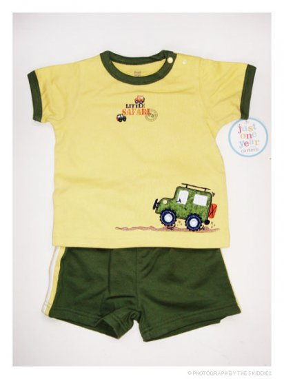 [SALE] 9M Unisex Carter's Shortsleeve and Shorts Set: Little Safari