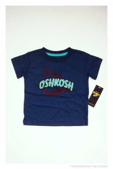 [SALE] 3-6M Babyboy OshKosh B'gosh Shortsleeve Top: OSHKOSH Shark