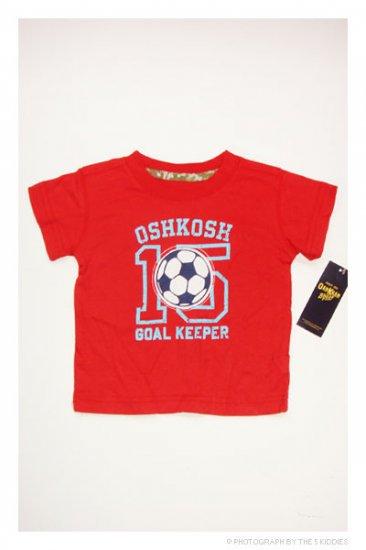 [SALE] 3-6M Unisex OshKosh B'gosh Shortsleeve Top: OSHKOSH Goal Keeper Number 15