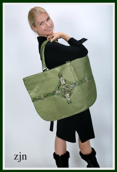 """Eastern Green Bag""  by Zhanna Zabolotskaia"