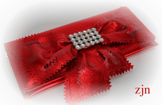 """Valentina""Purse by Zhanna Zabolotskaia.Red color leather."