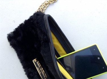 Wallet from black fur