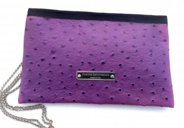 Wallet from lilac color leather 1