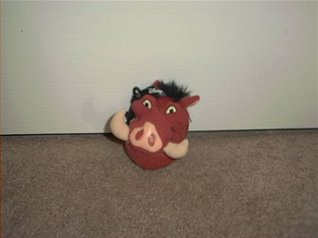 LION KING PUMBAA'S WILD ANIMAL JOKE BOOK PLUSH KEYCHAIN