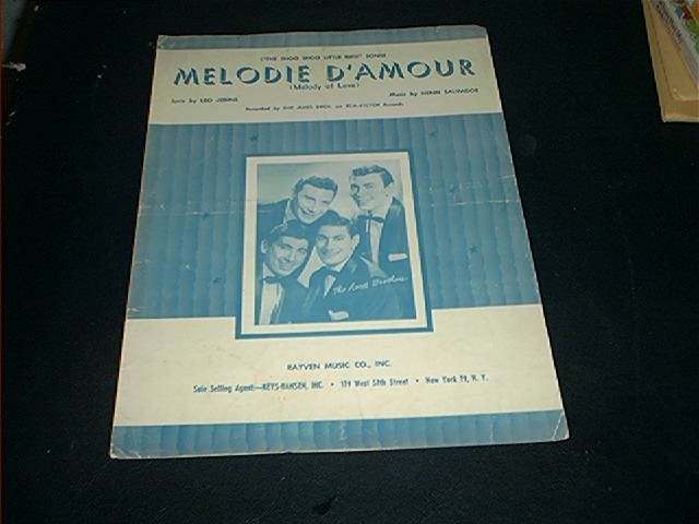 THE AMES BROTHERS MELODIE D'AMOUR THE SHOO SHOO LITTLE BIRD SONG FROM 1957